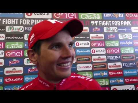Rein Taaramäe après sa victoire dans la 20e étape du Giro d'Italia 2016