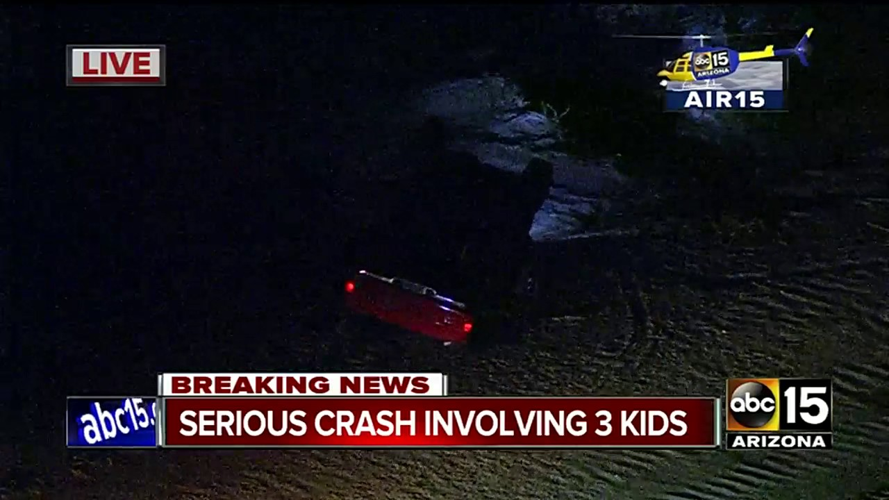now: 3 minors injured in gilbert car accident - youtube