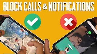 How to Block Calls While Playing PUBG Mobile | No Whatsapp Call | No Notifications | Any Smartphone