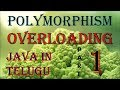 Overloading in java telugu Part 1 ||  Polymorphism in java telugu || Kotha Abhishek