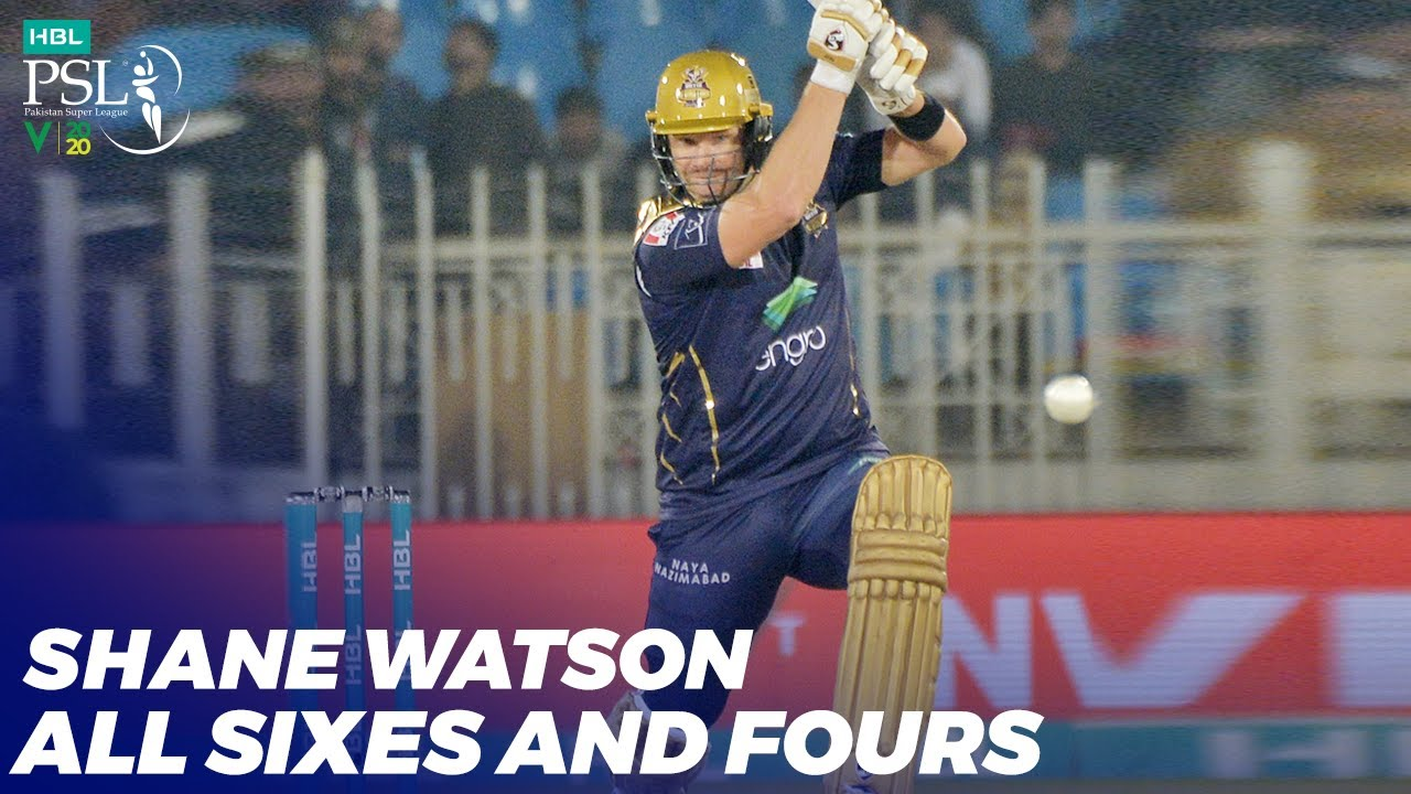 Shane Watson All Sixes And Fours | HBL PSL 2020 | MB2T