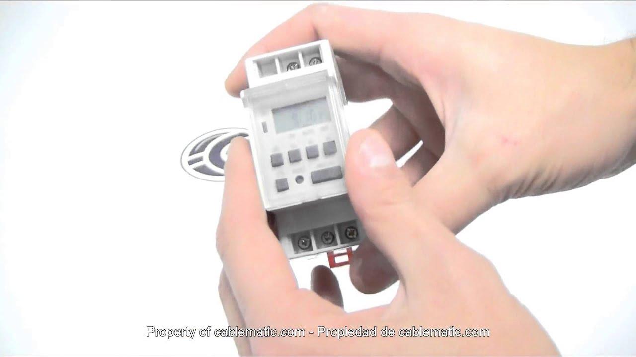 Programador El U00e9ctrico Digital Semanal Tipo Carril Din 35mm