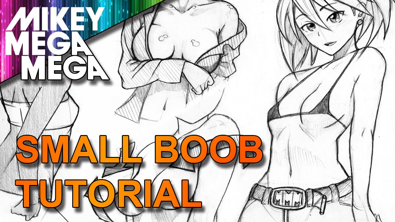 How to draw cartoon boobs
