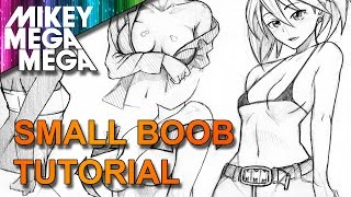 How To Draw BOOBS 1 |A-B CUP BREASTS| IN ANIME MANGA