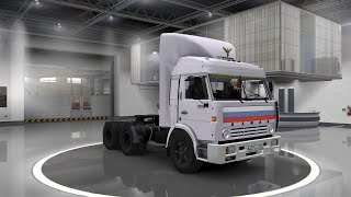 Скачать Euro Truck Simulator 2 обзор мода Kamaz 54115 V3 For 1 23 1 24