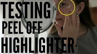 Testing PEEL OFF HIGHLIGHTER! + what I do in a week!