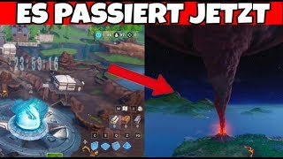 Fortnite: Volcano erupts from Loot Lake Runes LIVEEVENT it happens NOW!!