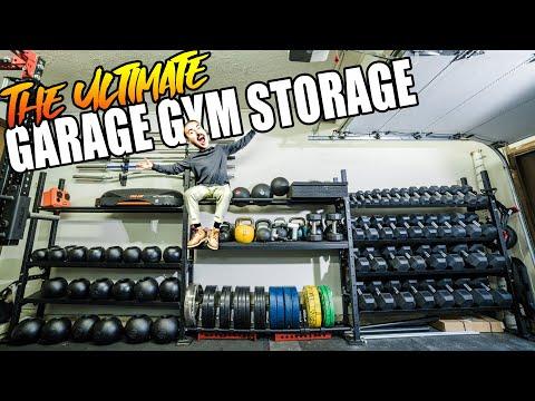 The Ultimate Garage Gym Storage Rack!