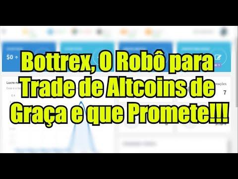 🔵 Bottrex - Robô Para o Trade de Criptomoedas de Graça [$10 dólares de Bônus]