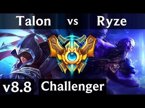 TALON vs RYZE (MID) ~ Legendary, KDA 15/2/10 ~ EUW Challenger ~ Patch 8.8