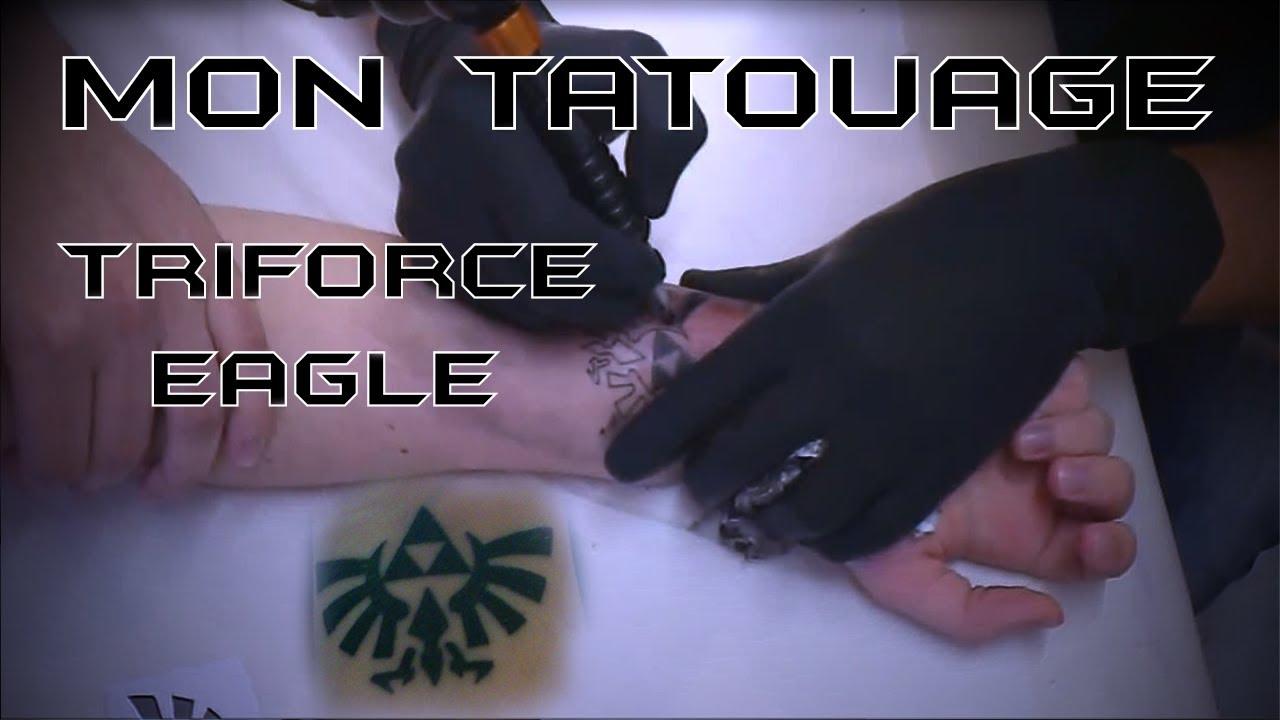 Mon Tatouage Triforce Eagle Fait Le 31 Aout 2012 Youtube