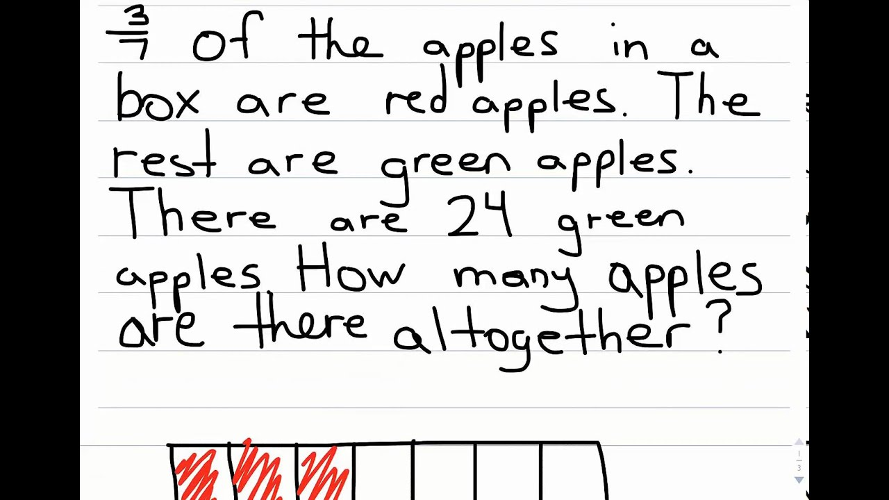 Word Problems Fraction Of A Set
