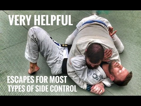 Jiu-Jitsu Escapes   Ways Out of Side Control, Scarf & Knee on Belly