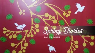 🎨 Asian Paints Royale Play Spring Diaries Wall Design || Interior Design 🎨