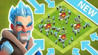 Clash of Clans - All Ice Wizards attack .!!-Update/New troop gameplay