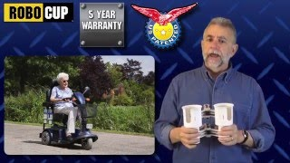 ROBOCUP CADDY CLAMP ON CUP HOLDER FOR WHEELCHAIR, WALKER, KNEE SCOOTER, CRUTCHES, POWER CHAIR