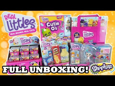 SHOPKINS REAL LITTLES UNBOXING | Opening Season 12 Full Box + Case + Playsets | Special Edition