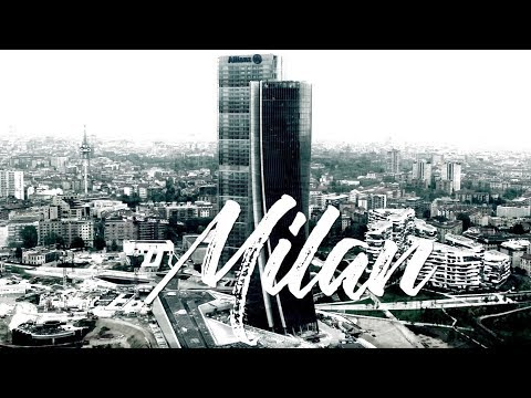 City Life Milan, Italy -  April 2017 - Drone View