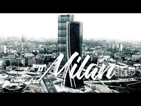 City Life Milan, Italy -  April 2017 - Drone View