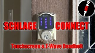 Schlage Connect Deadbolt Z Wave Touchscreen Security For All