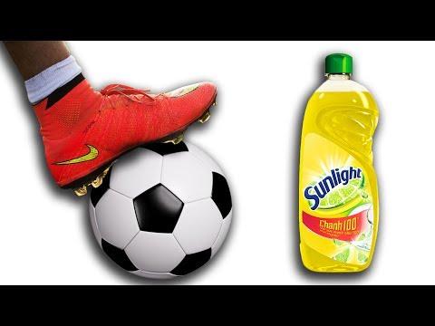 NTN - Thử Thách Đá Bóng Trên Xà Phòng (Playing soccer on a land full of soap)