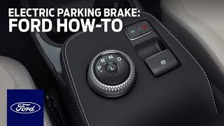 homepage tile video photo for Ford Mustang Mach-E: Electric Parking Brake   Ford How-To   Ford