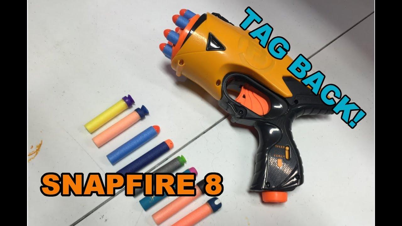 TAG BACK! - Nerf Dart Tag Snapfire 8   Walcom S7