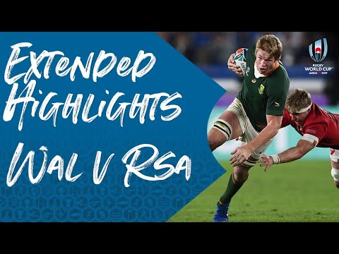 Extended Highlights: Wales v South Africa - Rugby World Cup 2019