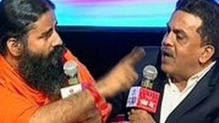 Agenda Aaj Tak Ramdev Nirupam Lock Horns Over Black Money