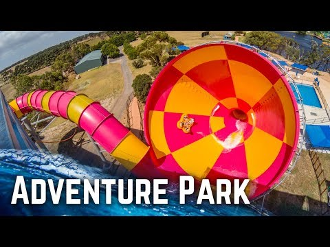ALL WATER SLIDES at Adventure Park Geelong, Australia!
