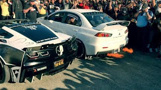 Evo X Destroys Muscle Cars In 2step Comp!!!!