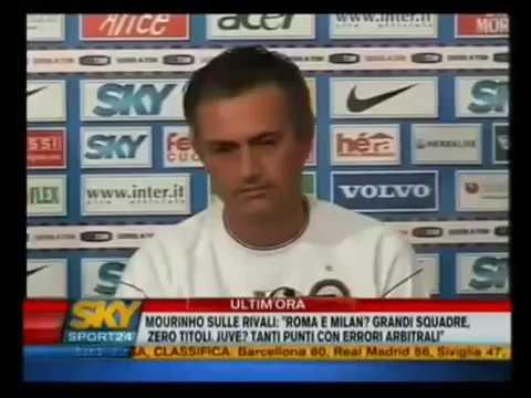 Tutte le interviste di Josè Mourinho all'inter