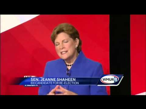Jeanne Shaheen, Scott Brown face off in debate