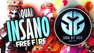 [🔴 LIVE] FREE FIRE ~ SQUAD INSANO🔥DANGER FT. SIDE BY SIDE🔥RUMO 70K