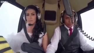 Невеста разбилась на вертолете