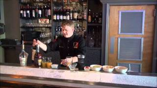 Dustin Parres shakes up a SAMOGON Sangria Martini