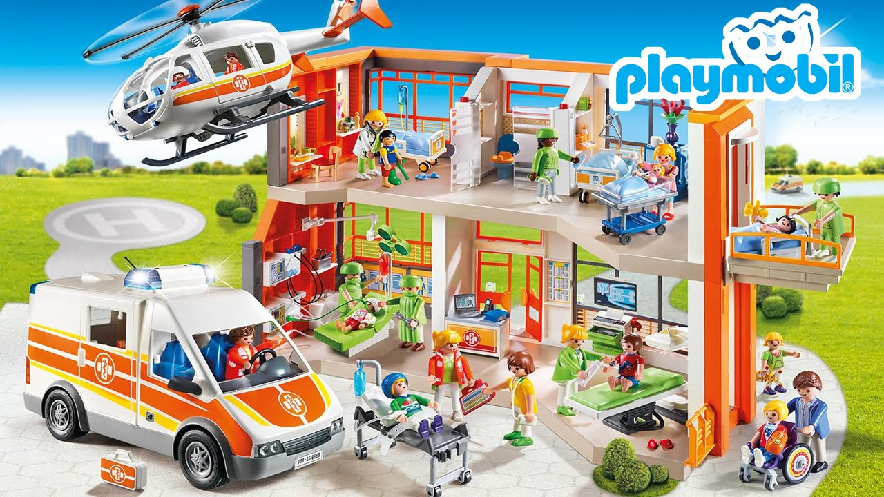 playmobil hospital infantil youtube