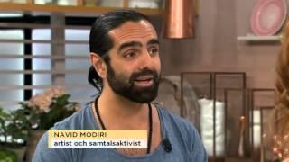 Navid Modiri fick spela golf med Jimmie Åkesson för 47000 kronor - Nyhetsmorgon (TV4)