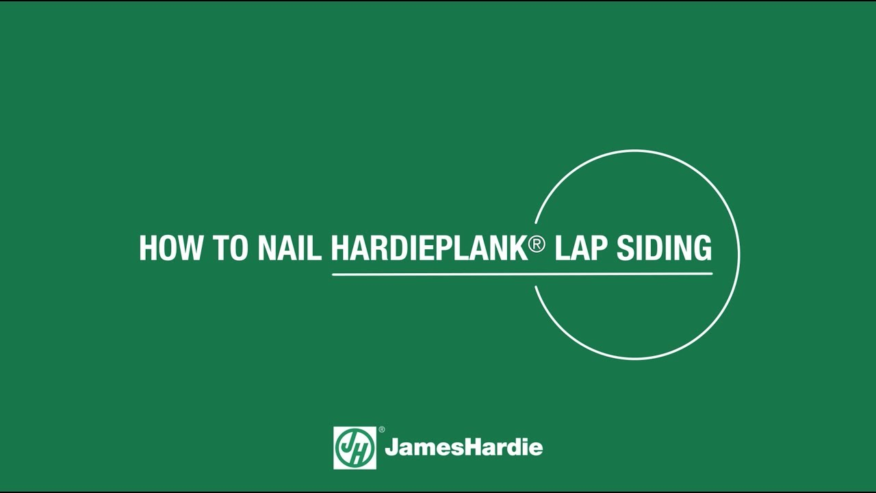 How To Nail Hardieplank Lap Siding Youtube