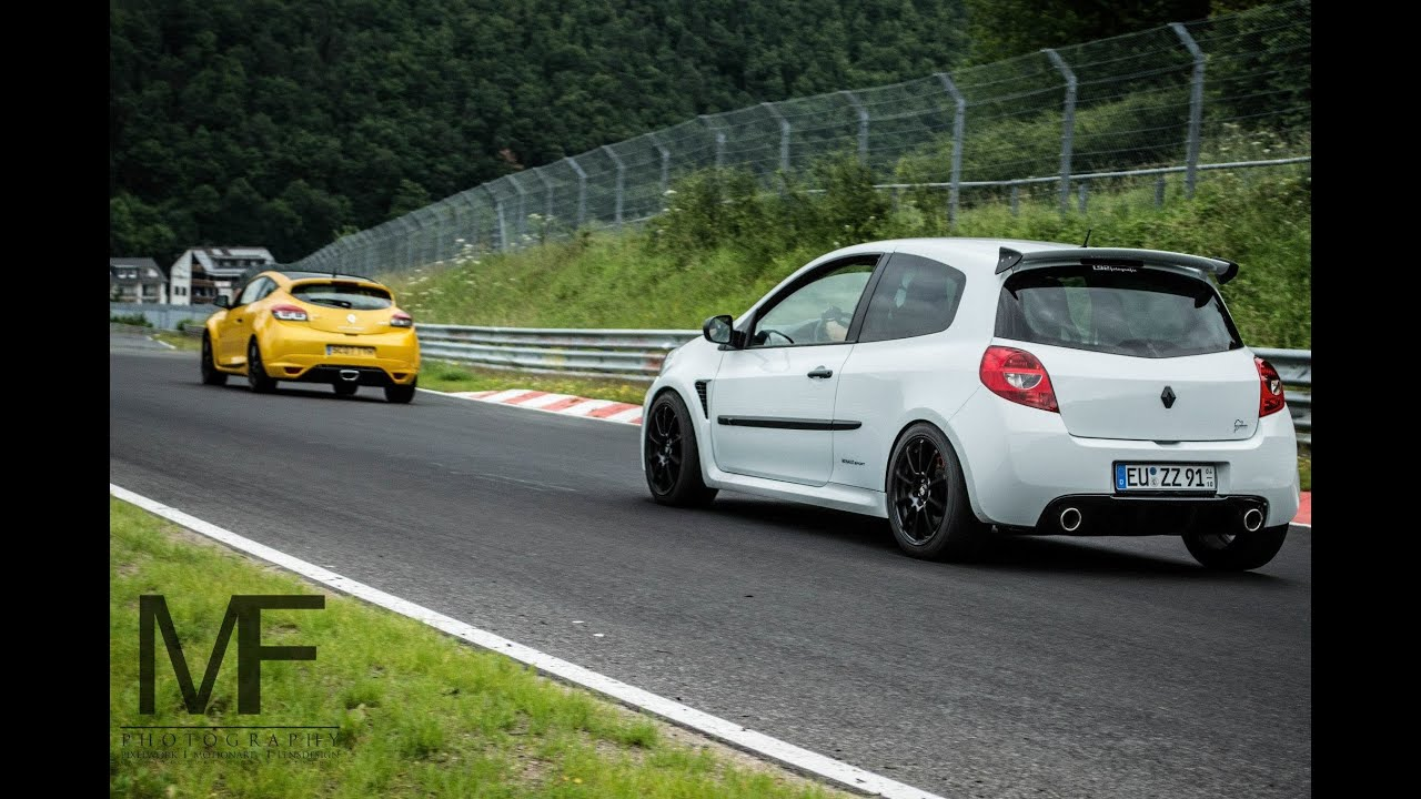 clio 3 rs cup vs megane rs nordschleife youtube. Black Bedroom Furniture Sets. Home Design Ideas