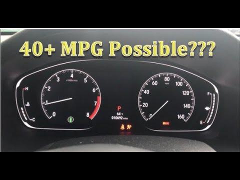 2018 Honda Accord Real World MPG Calculation