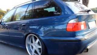 Slammed BMW E39 touring on Mk Motorsport