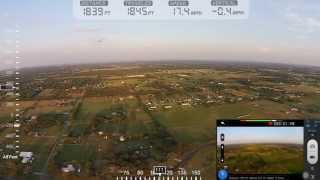 DJI Phantom 2 Vision Plus Range Test Stock with DashWare
