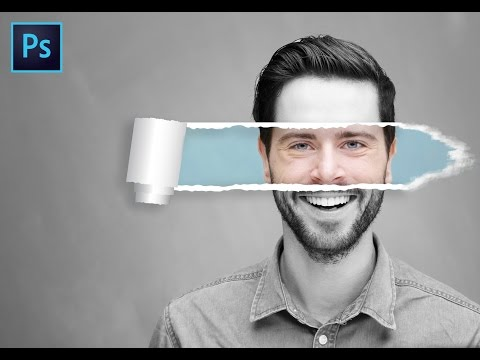 How to make RIPPED PAPER Effect : Photoshop Tutorial thumbnail