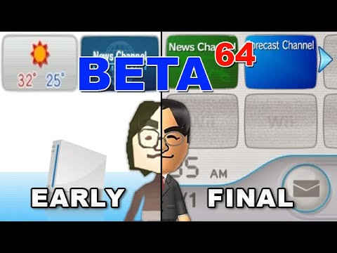Beta64 - Wii Channels, Miis and the Wii Menu