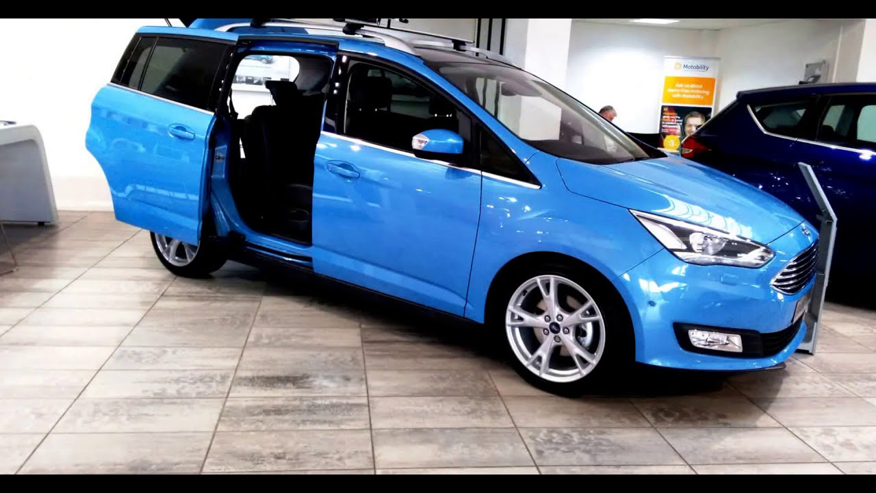 ford grand c max 1st exclusive iceberg blue pics all seat. Black Bedroom Furniture Sets. Home Design Ideas