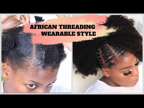 how-to-|african-threading-|-short-4c-hair-updo-|-wearable-style