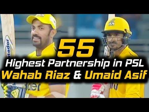 Highest Partnership of 9th Wicket in PSL   Islamabad United Vs Peshawar Zalmi   HBL PSL 2018
