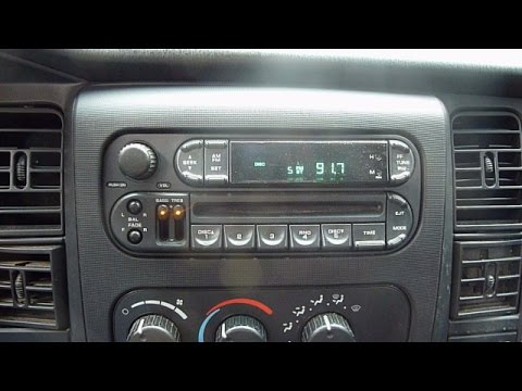 dodge dakota radio replacement