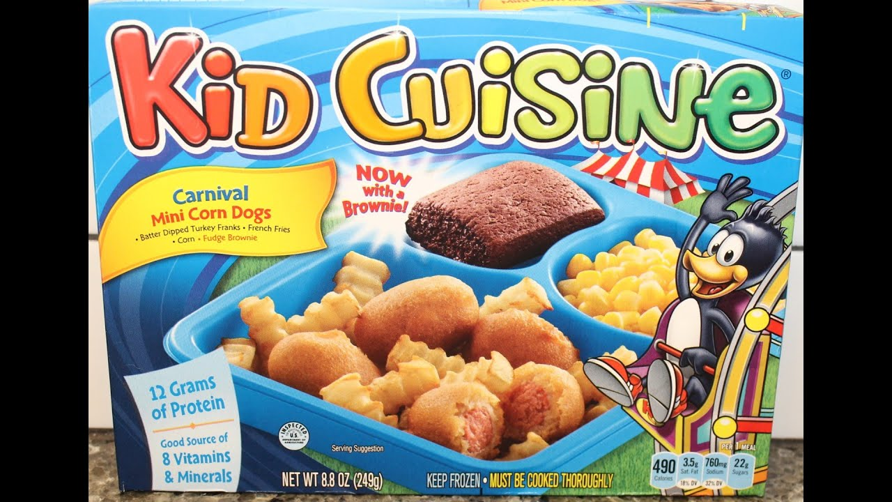 Kid cuisine carnival mini corn dogs review youtube for Are kid cuisine meals healthy